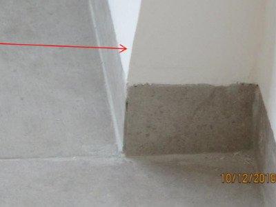 בדק בית בדירה חדשה שיפולים לא תקינים