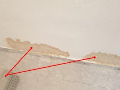 בודק דירה לפני מסירה - רטיבות וויזואלית בקירות